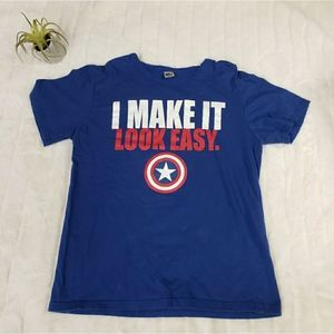 Captain America I make it look easy t shirt